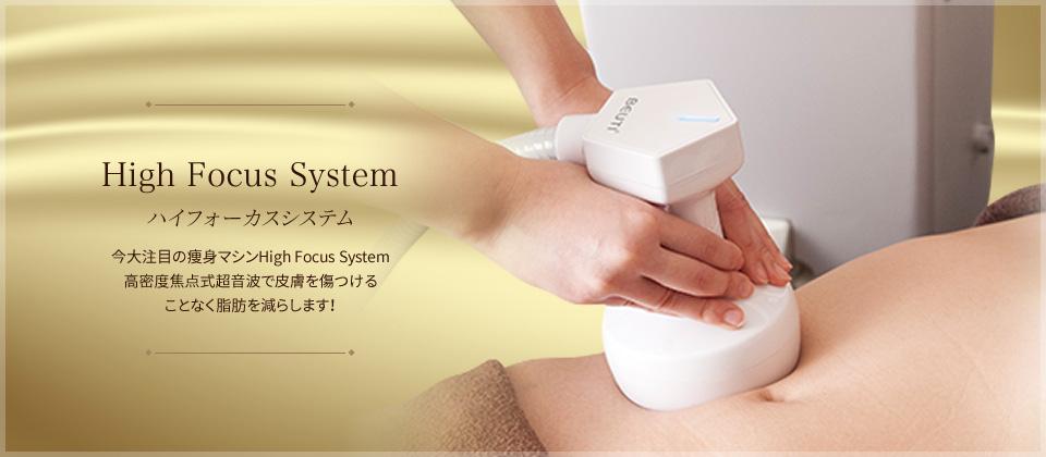 ハイフォーカスシステム 今大注目の痩身マシンThermal HIFU高密度焦点式超音波で皮膚を傷つけることなく脂肪を減らします!